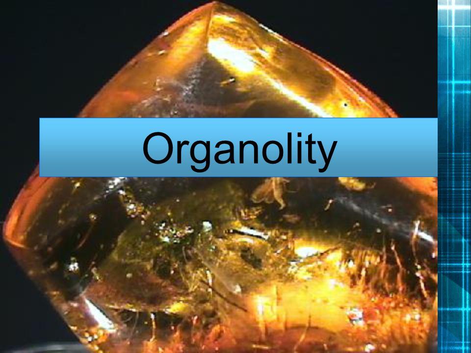 -Nerosty organického původu -Dělí se podle látek z nichž vznikli, nebo jež obsahují na: -Soli organických kyselin (abelsonit) -Uhlovodíky(fichtelit) -Pryskyřice (jantar) Mezi organolity nepatří například uhlí a ropa.