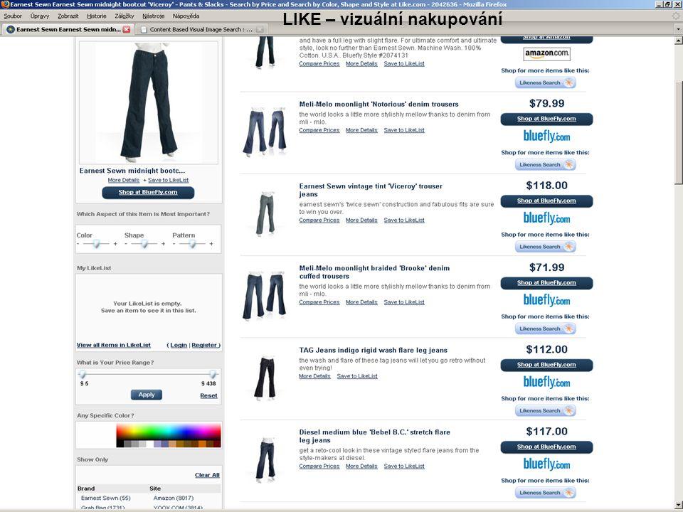 LIKE – vizuální nakupování