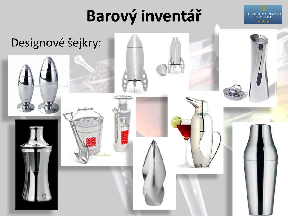 Barový inventář Designové šejkry: