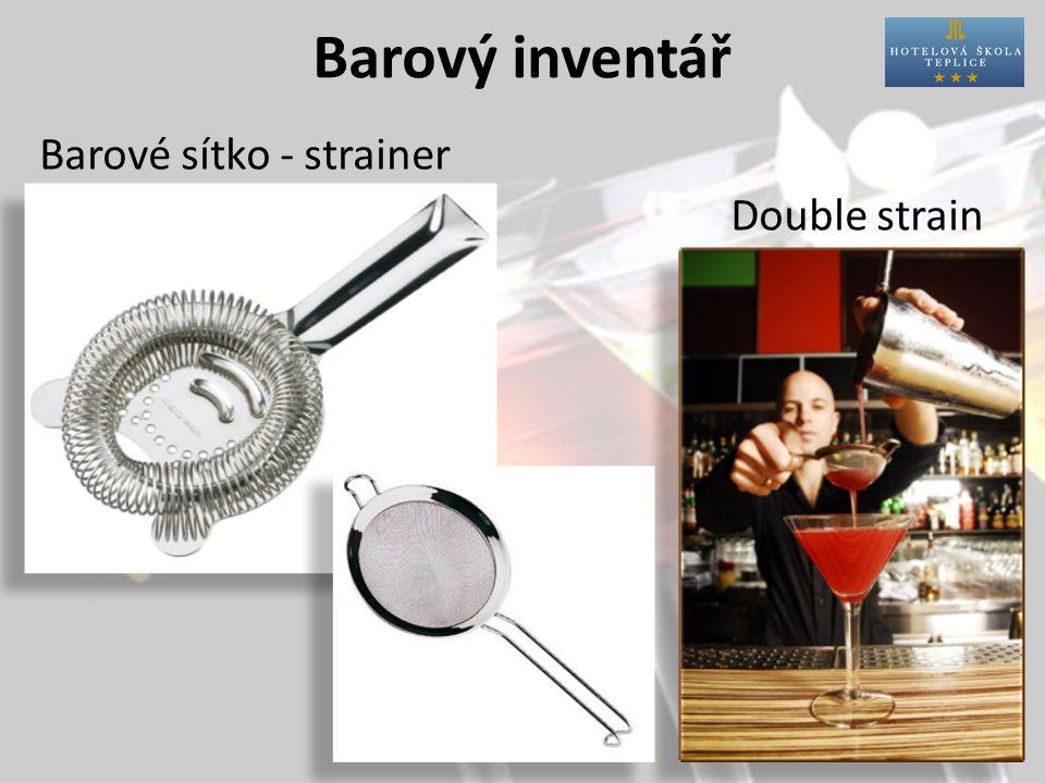 Barový inventář Barové sítko - strainer Double strain