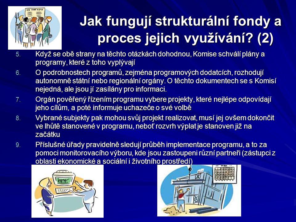 Jak fungují strukturální fondy a proces jejich využívání? (2) Jak fungují strukturální fondy a proces jejich využívání? (2) 5. Když se obě strany na t