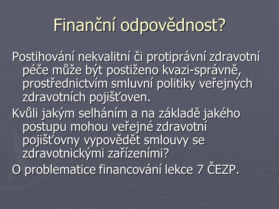 Finanční odpovědnost.