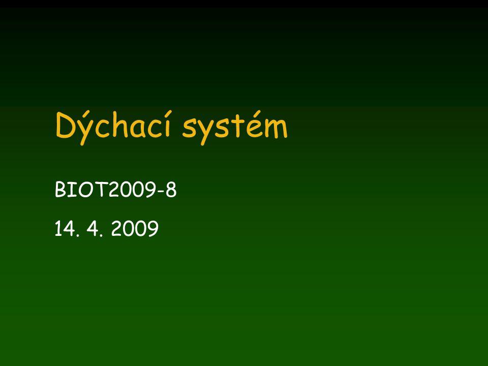 Dýchací systém BIOT2009-8 14. 4. 2009