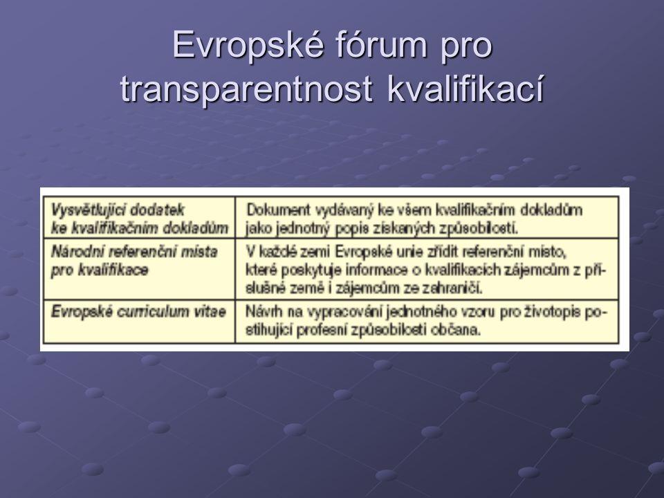 Evropské fórum pro transparentnost kvalifikací