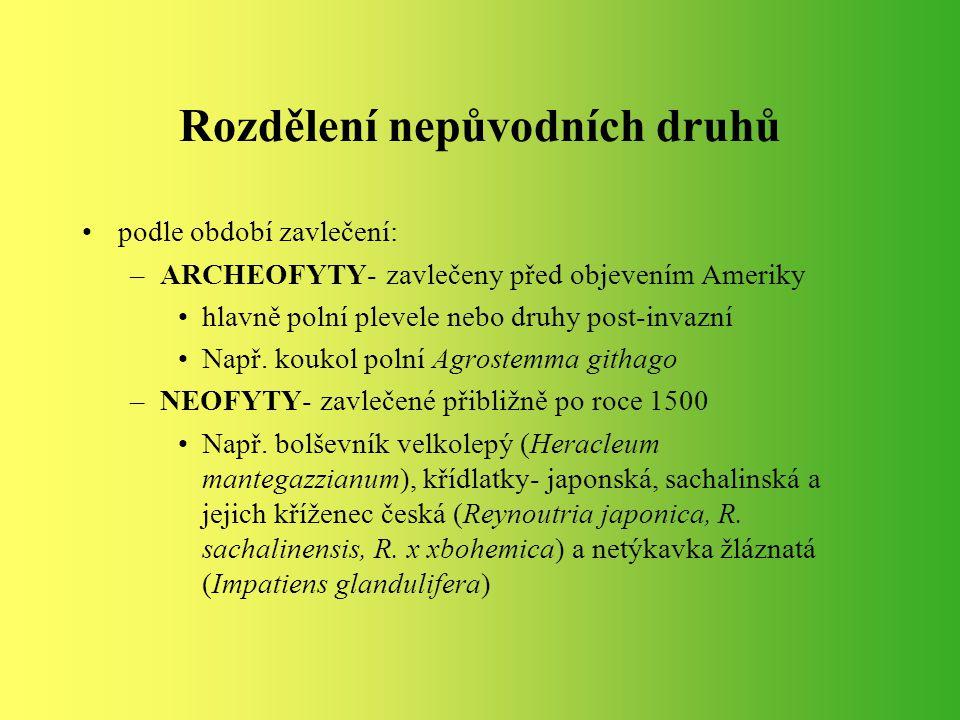 Legislativa ČR Zákon 114/1992 Sb.: o ochraně přírody a krajiny (zejména §§: 5,26,29,34 a 77) a jej doplňující vyhláška 395/1992 Sb.