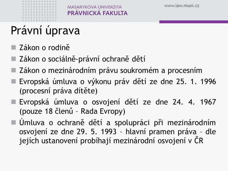 www.law.muni.cz Úmluva o ochraně dětí a spolupráci při mezinárodním osvojení 29.