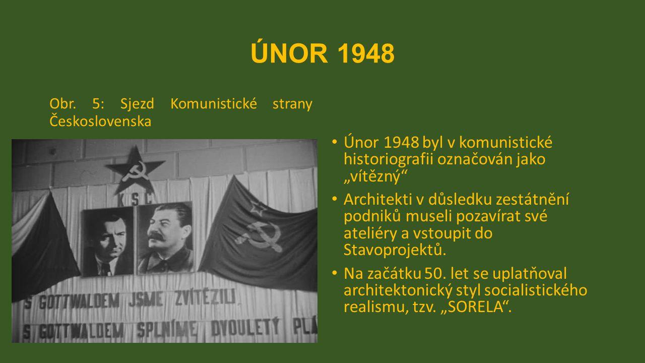 """ÚNOR 1948 Obr. 5: Sjezd Komunistické strany Československa Únor 1948 byl v komunistické historiografii označován jako """"vítězný"""" Architekti v důsledku"""