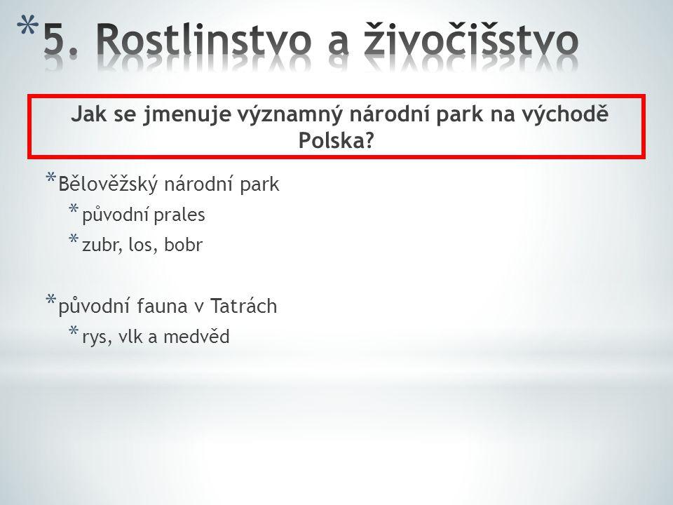 * Bělověžský národní park * původní prales * zubr, los, bobr * původní fauna v Tatrách * rys, vlk a medvěd Jak se jmenuje významný národní park na výc