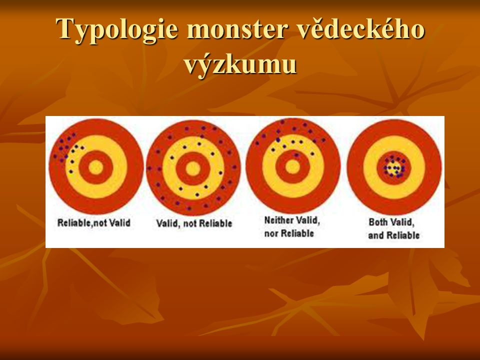Typologie monster vědeckého výzkumu