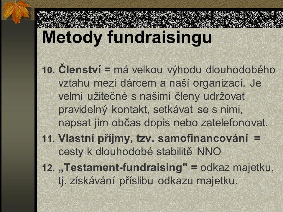 Metody fundraisingu 10.