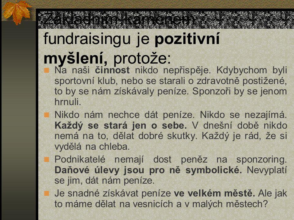 Metody fundraisingu 1.