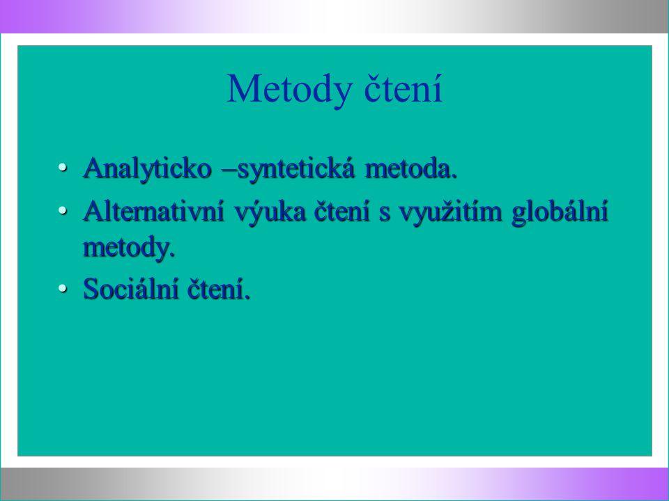 Metody čtení Analyticko –syntetická metoda.Analyticko –syntetická metoda.