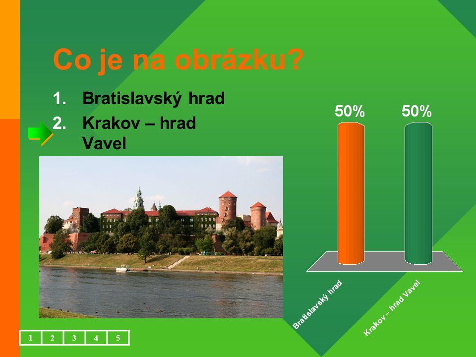 Co je na obrázku 1.Bratislavský hrad 2.Krakov – hrad Vavel 12345