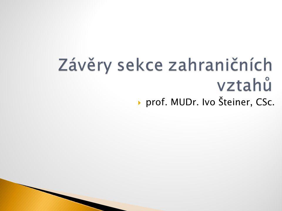  prof. MUDr. Ivo Šteiner, CSc.