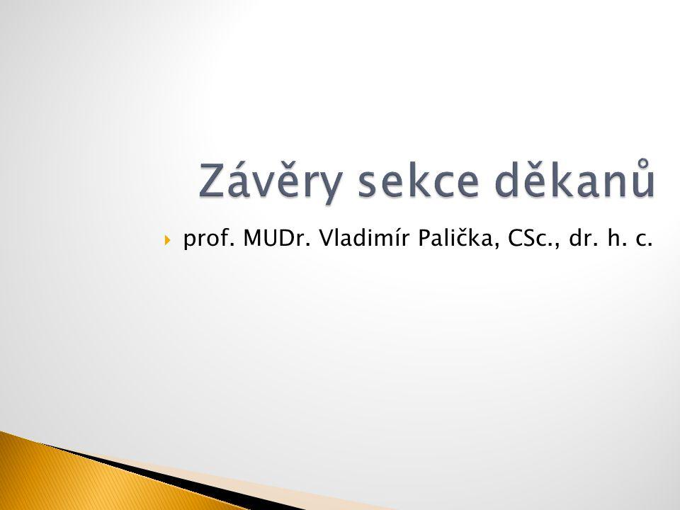  prof. MUDr. Vladimír Palička, CSc., dr. h. c.