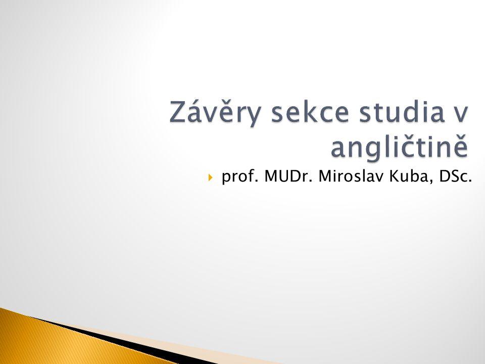  prof. MUDr. Miroslav Kuba, DSc.