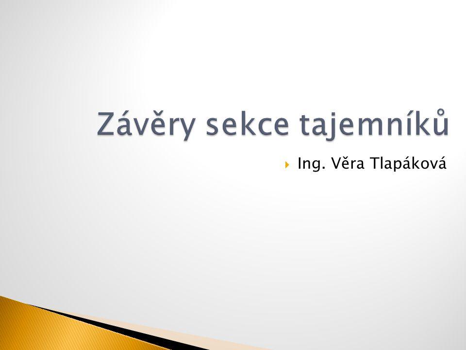  Ing. Věra Tlapáková