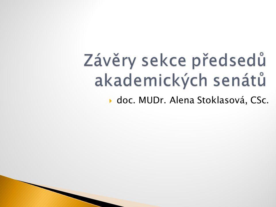  doc. MUDr. Alena Stoklasová, CSc.