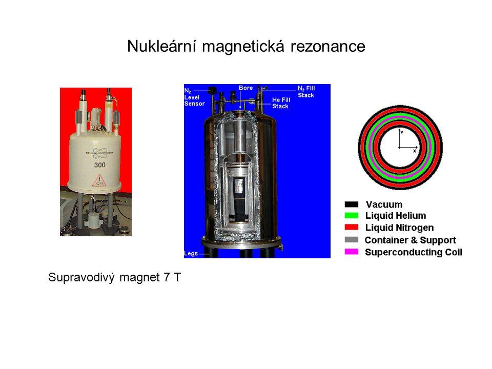 Nukleární magnetická rezonance Supravodivý magnet 7 T