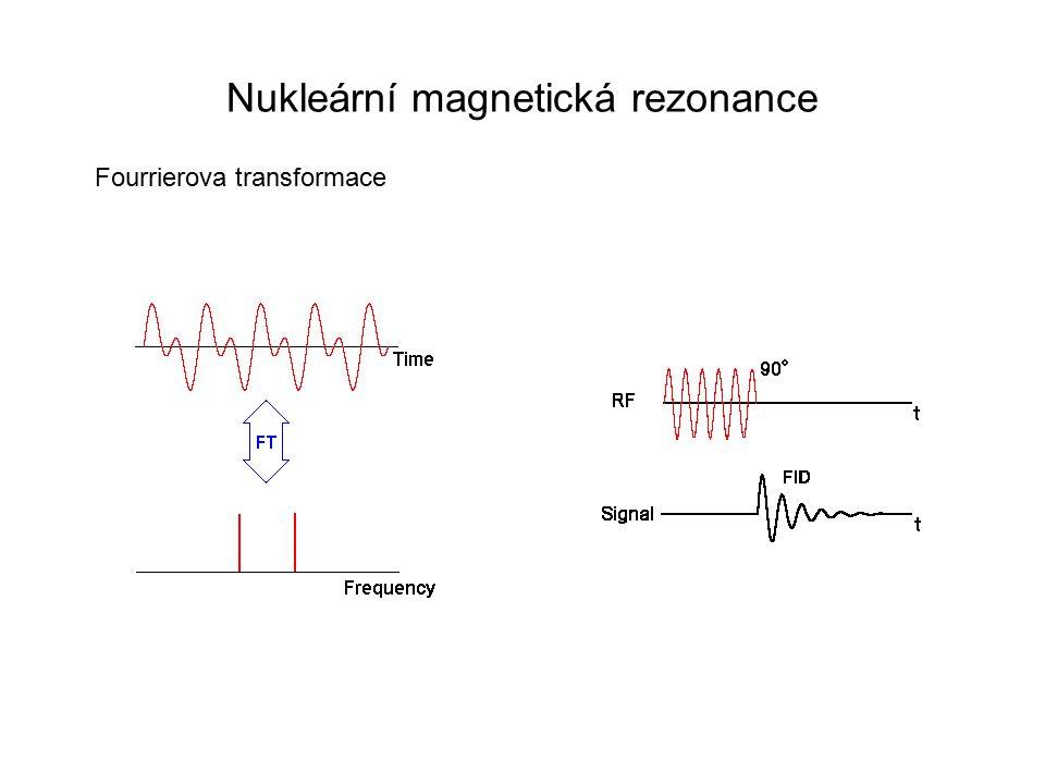 Nukleární magnetická rezonance Fourrierova transformace