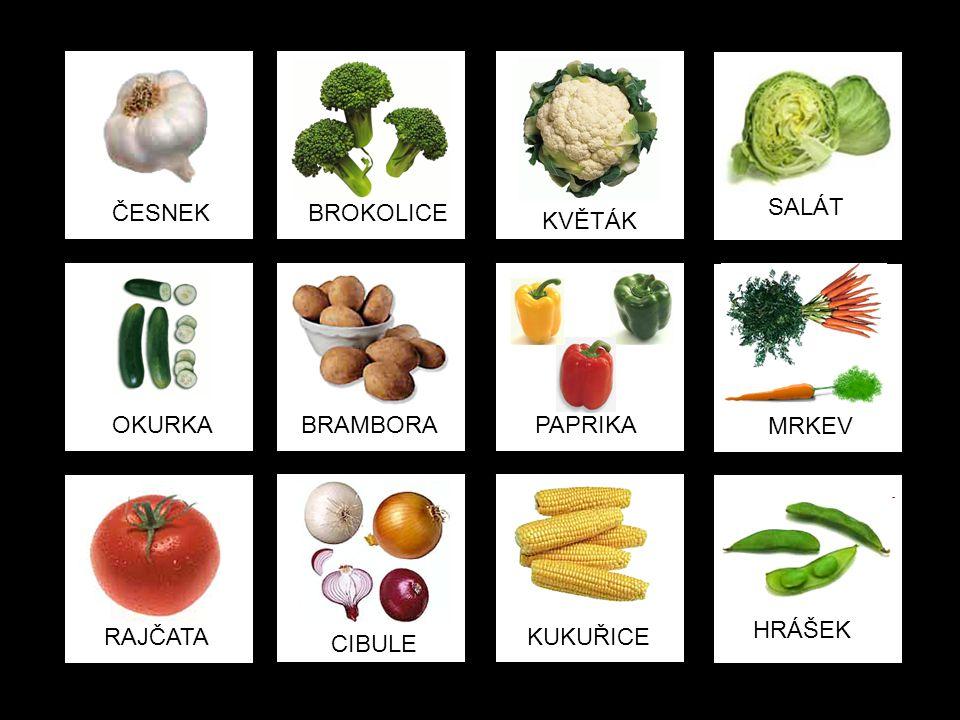 4. ÚKOL Obrázky vytiskneme a vystřihneme (snímky 66 a 67) a zahrajeme si zeleninové pexeso.