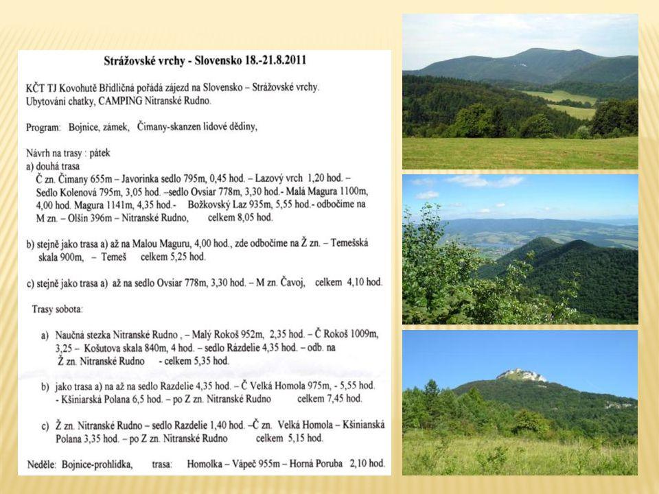 Strážovské vrchy leží za údolím Váhu naproti našim Bílým Karpatům.