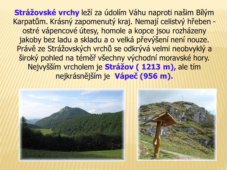 Strážovské vrchy leží za údolím Váhu naproti našim Bílým Karpatům. Krásný zapomenutý kraj. Nemají celistvý hřeben - ostré vápencové útesy, homole a ko