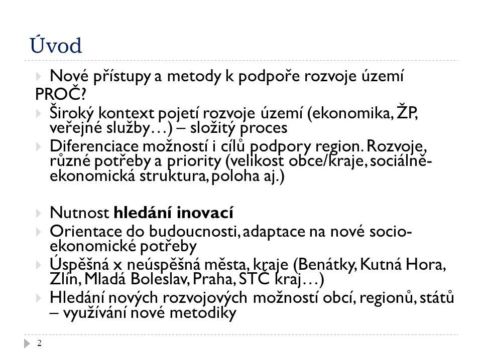 Úvod 2  Nové přístupy a metody k podpoře rozvoje území PROČ.