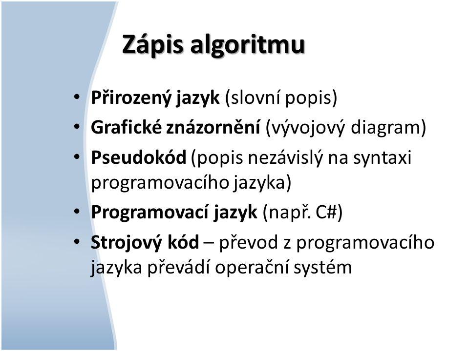 Příklad2 – vývojový diagram (VD)