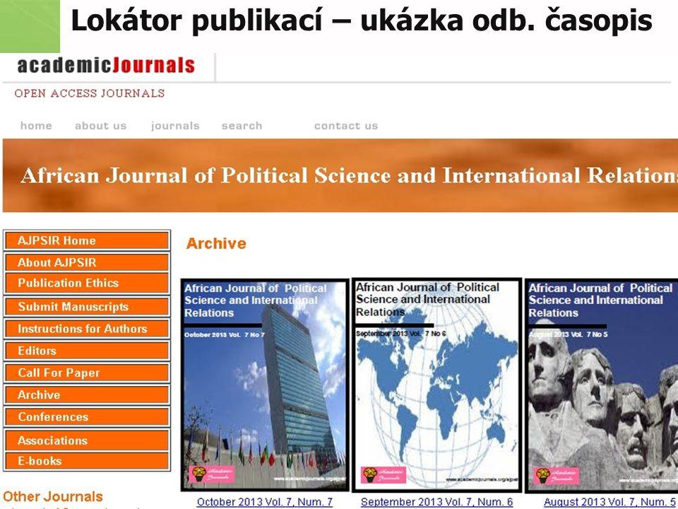 Lokátor publikací – ukázka odb. časopis