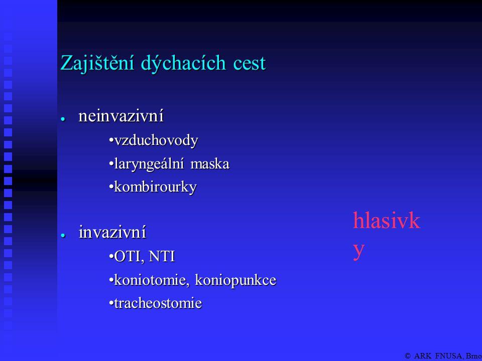 © ARK FNUSA, Brno LM naléhá proti hlasivkám (kořen j., recessus piriformis, horní jícnový svěrač) Indikace: ● místo obličejové masky, místo OTI, v tísni.