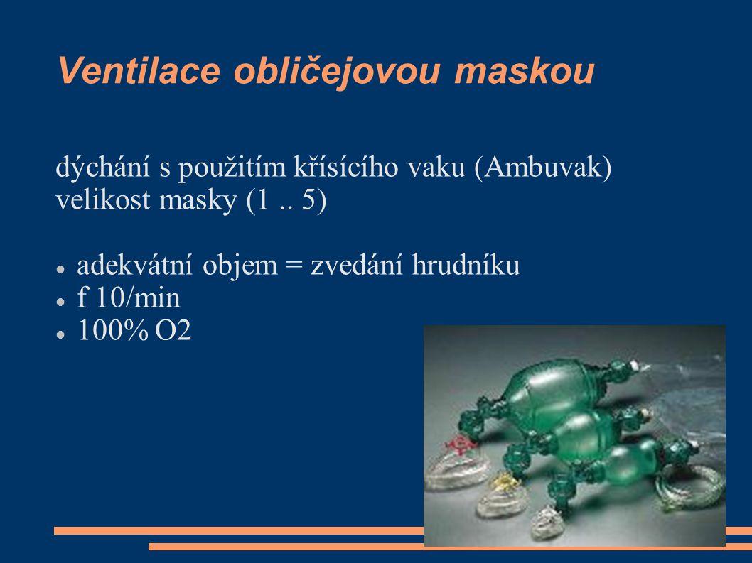 Ventilace obličejovou maskou dýchání s použitím křísícího vaku (Ambuvak) velikost masky (1..
