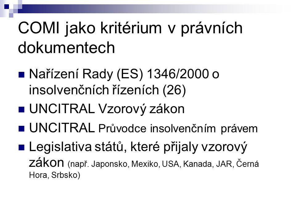 Mezinárodní příslušnost Pravomoc/příslušnost Kritéria pro určení dlužníkova vztahu ke státu (Brusel I, SES, členské státy apod.) Flexibilita vs.