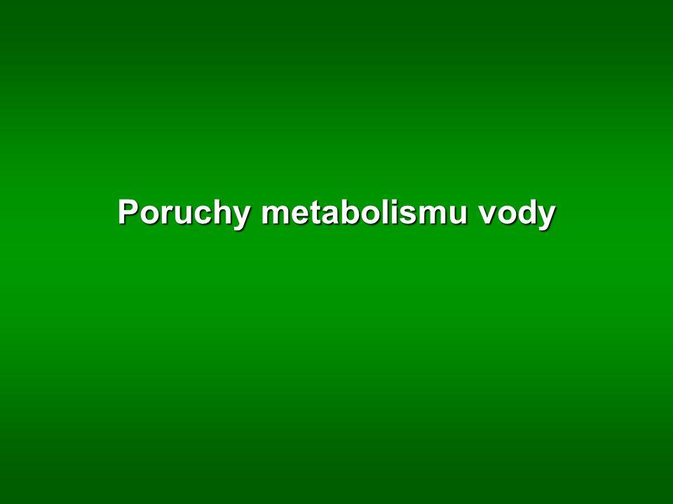Poruchy metabolismu vody