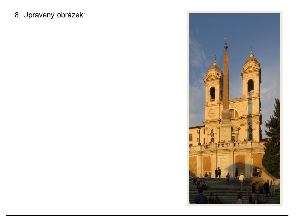 8. Upravený obrázek:
