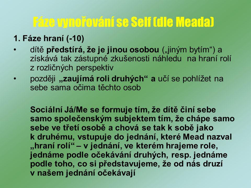 Fáze vynořování se Self (dle Meada) 1.