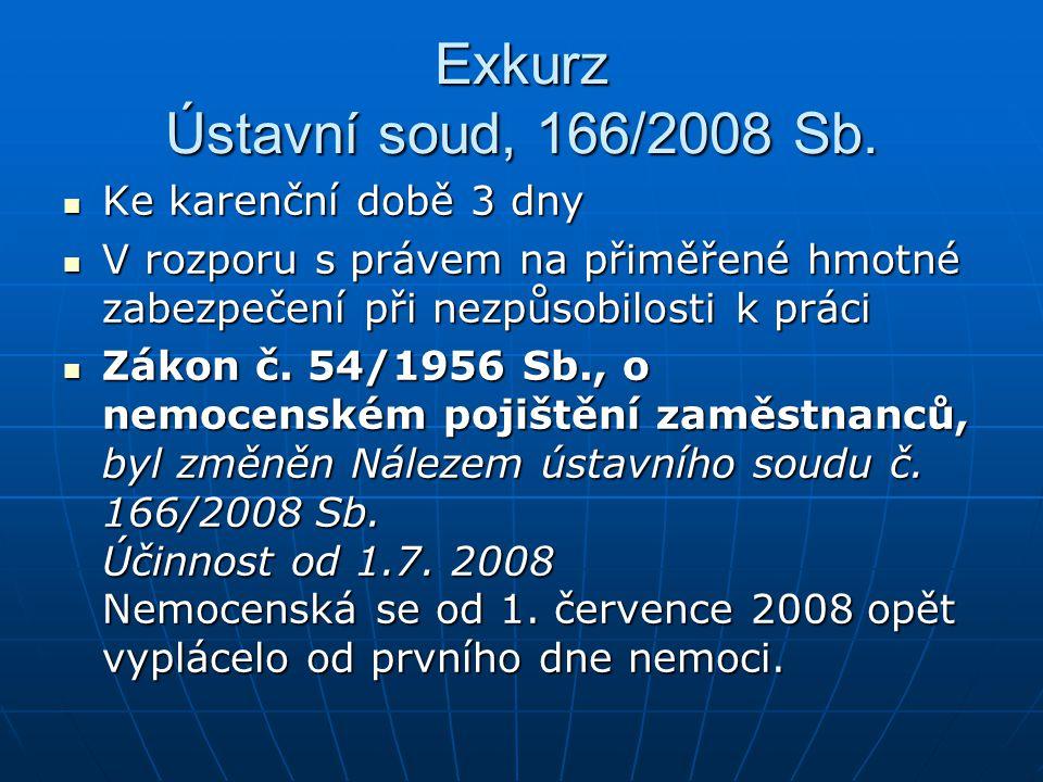 Exkurz Ústavní soud, 166/2008 Sb.