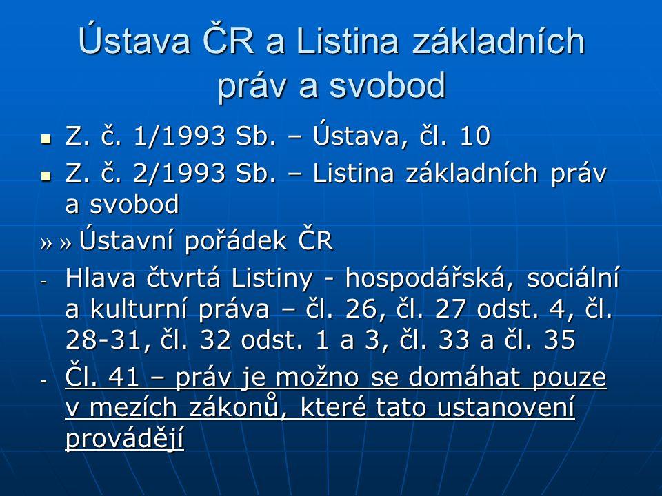 Ústava ČR a Listina základních práv a svobod Z.č.
