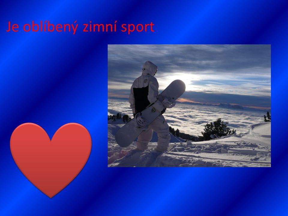 Je oblíbený zimní sport
