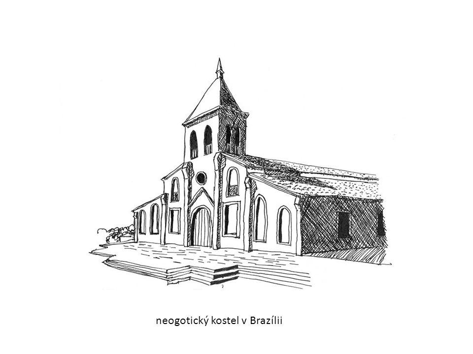 neogotický kostel v Brazílii