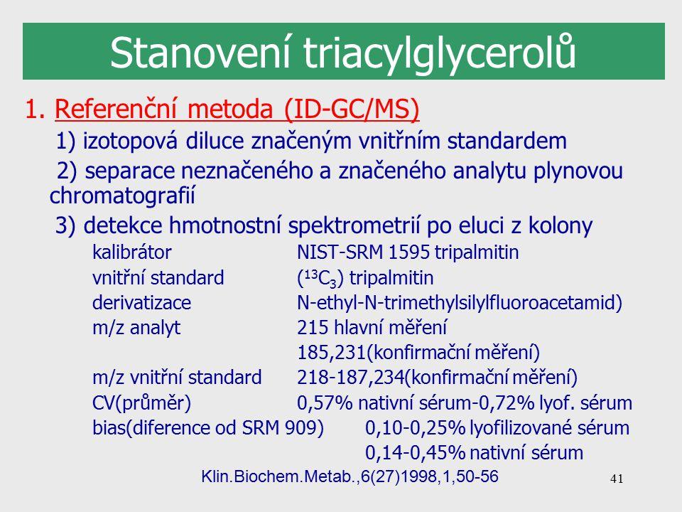 41 Stanovení triacylglycerolů 1.