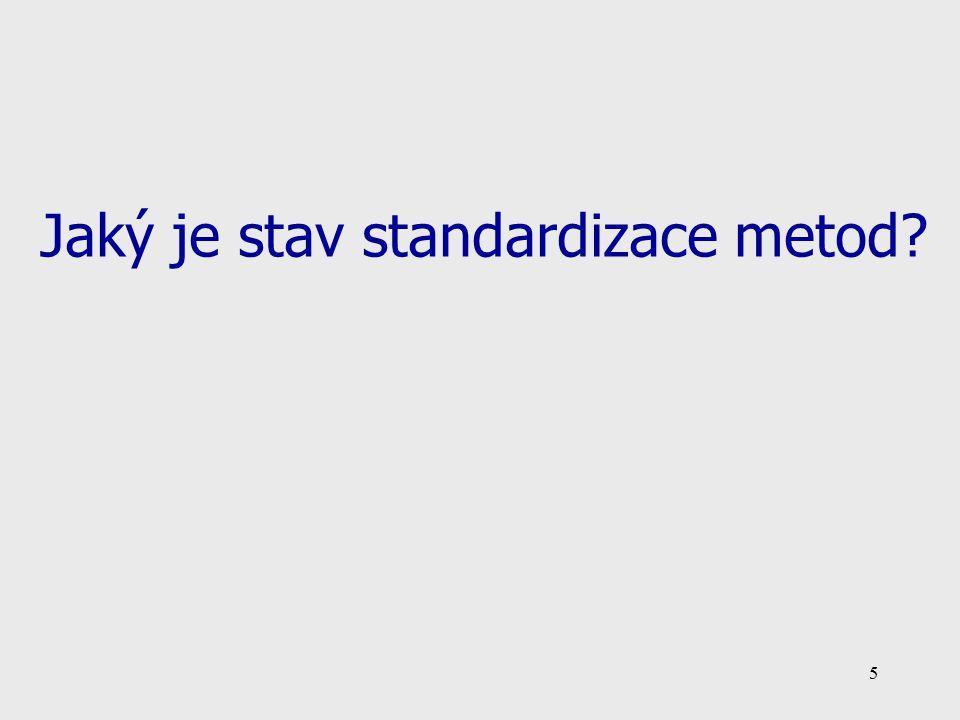 5 Jaký je stav standardizace metod?