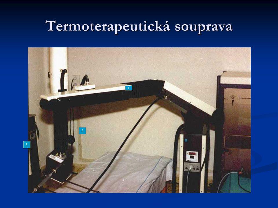 Termoterapeutická souprava blokové schéma zapojení soustavy reálná souprava