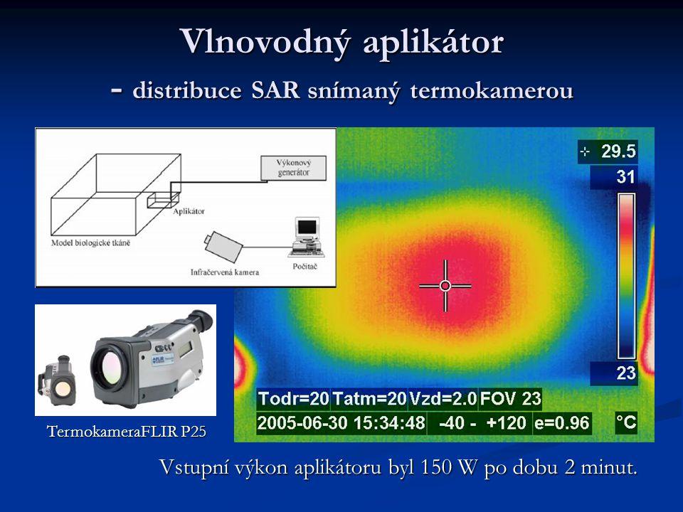 Vlnovodný aplikátor - distribuce SAR v tkáni