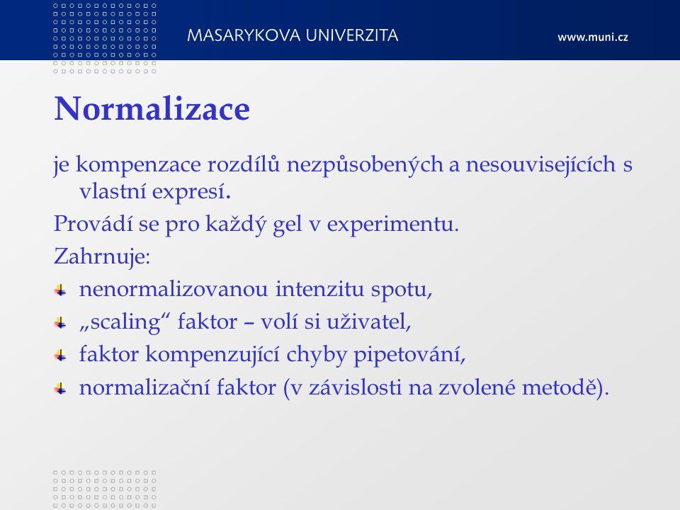Normalizace je kompenzace rozdílů nezpůsobených a nesouvisejících s vlastní expresí.