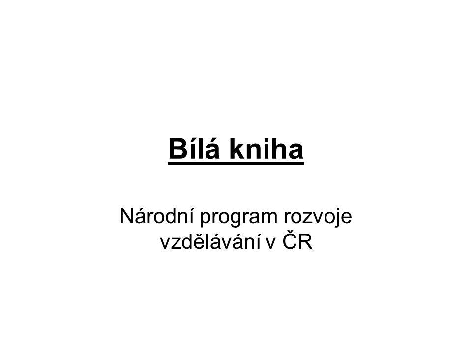 Bílá kniha Národní program rozvoje vzdělávání v ČR