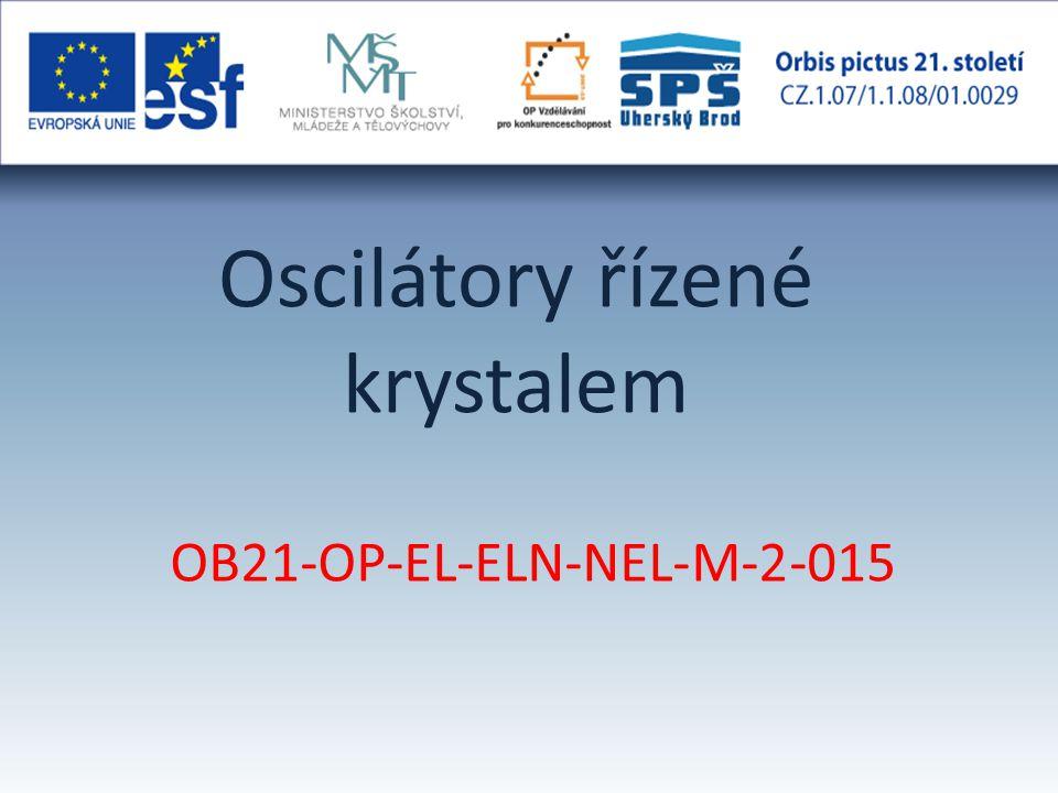 Oscilátory řízené krystalem OB21-OP-EL-ELN-NEL-M-2-015