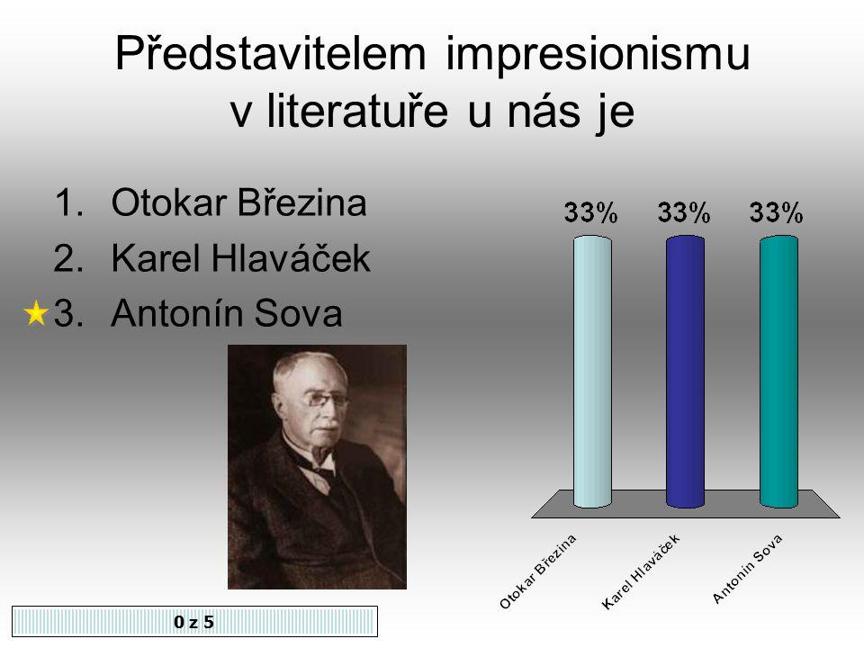 Impresionismus se v literatuře uplatnil hlavně v přírodní a intimní lyrice.