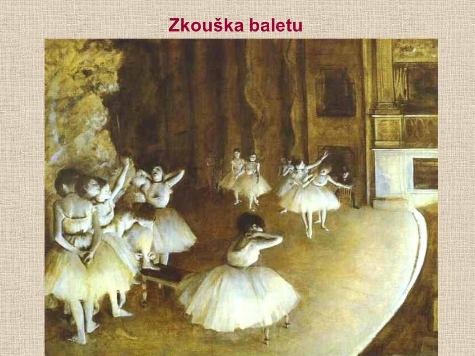 Zkouška baletu