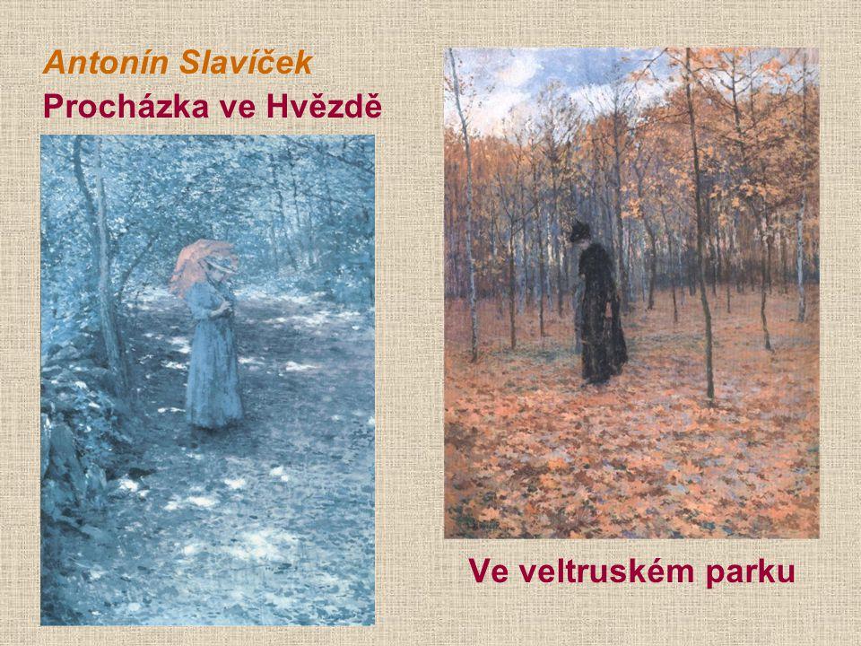Antonín Slavíček Procházka ve Hvězdě Ve veltruském parku